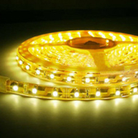 Led strip board 3528 smd led strip yellow bright showcase table lamp ceiling lighting 220v 60leds/m strip lights 5 Meters