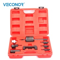 Veconor Diesel Common Rail Injector Remover Puller Extractor Set Slide Hammer Tool Carbon Steel For Rail Injectors