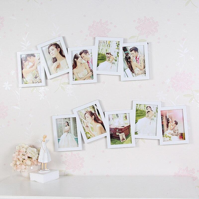 5 шт./лот семь дюймов фото нерегулярные творческих в сочетании стены frame Свадебные украшения фото корейский садовая мебель
