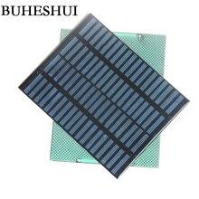 """BUHESHUI 1.5 W 18 V Polycrystalline פנל סולארי מודול DIY שמש תאי מטען עבור 12 V מערכת Barttery 140*110 מ""""מ משלוח חינם"""