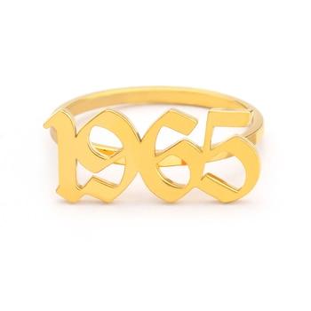 ef1a49adbfb3 ICFTZWE oro plata personalizado nombre antiguo inglés Número anillos para  Mujeres Hombres dedo del pie anillo Bague Femme Anel regalo de cumpleaños  BFF