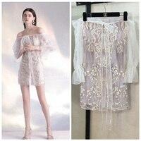 Для женщин летние платья платье пикантные Слово плеча Мода