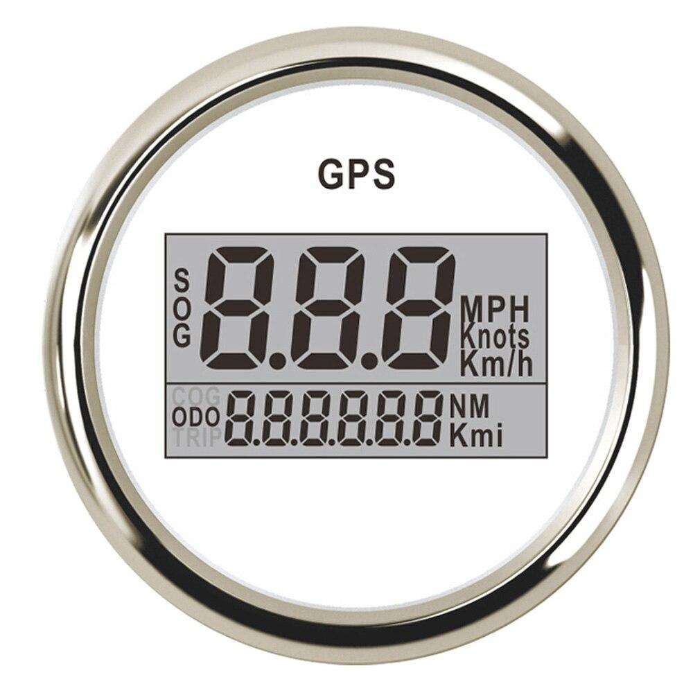 52mm GPS Compteur De Vitesse Odomètre Numérique Bateau Compteur De Vitesse Jauge 0 ~ 999 noeuds km/h mph fit Voiture Bateau GPS Vitesse Avec Rétro-Éclairage 9 ~ 32 v