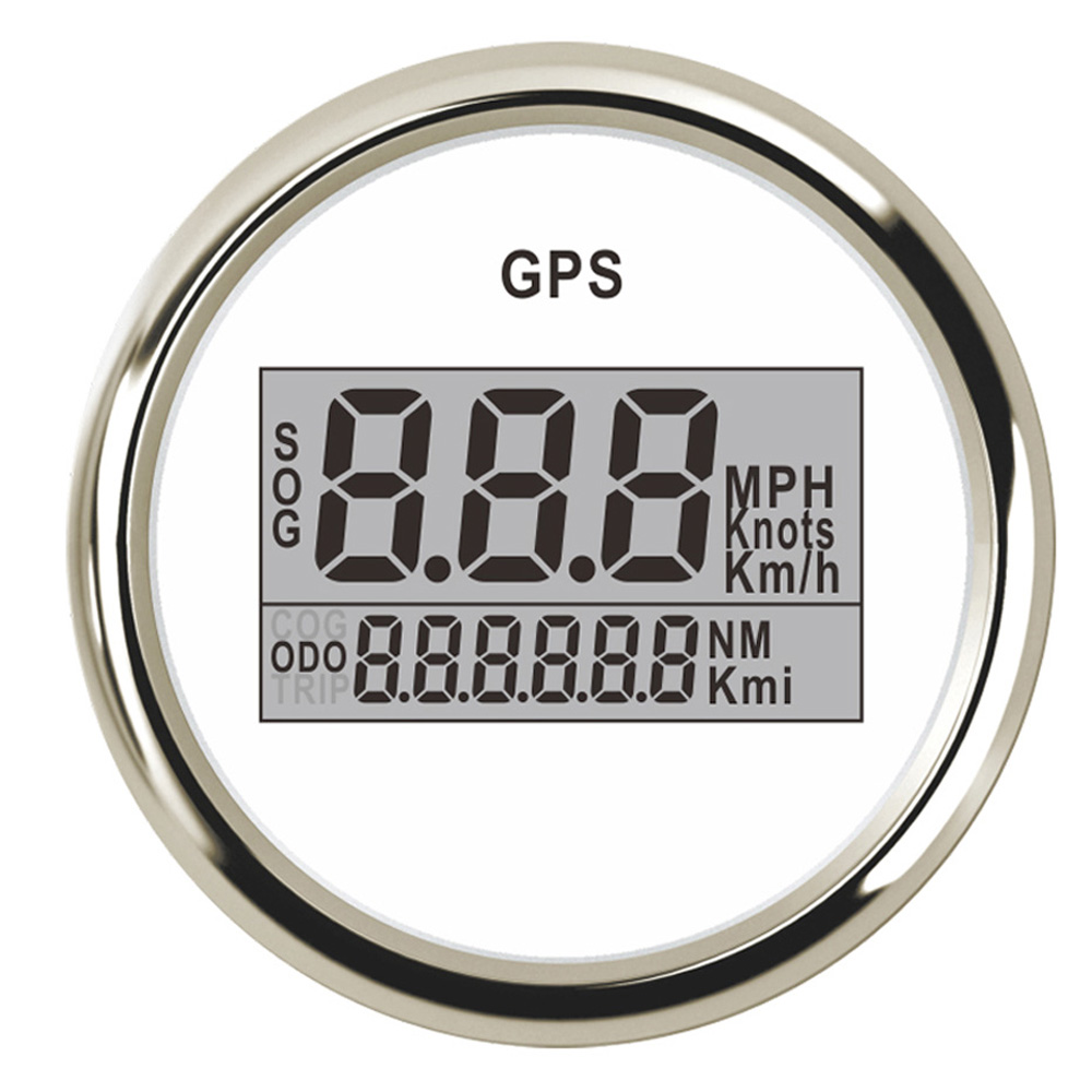 52mm GPS Speedometer Odometer Digital Boat Speedometer Gauge 0~999 knots km/h mph fit Car Boat GPS Speed With Backlight 9~32V 52 mm universal digital gps speedometer odometer fit car boat gps speed sensor with backlight 316 l 9 32v km h adjustable
