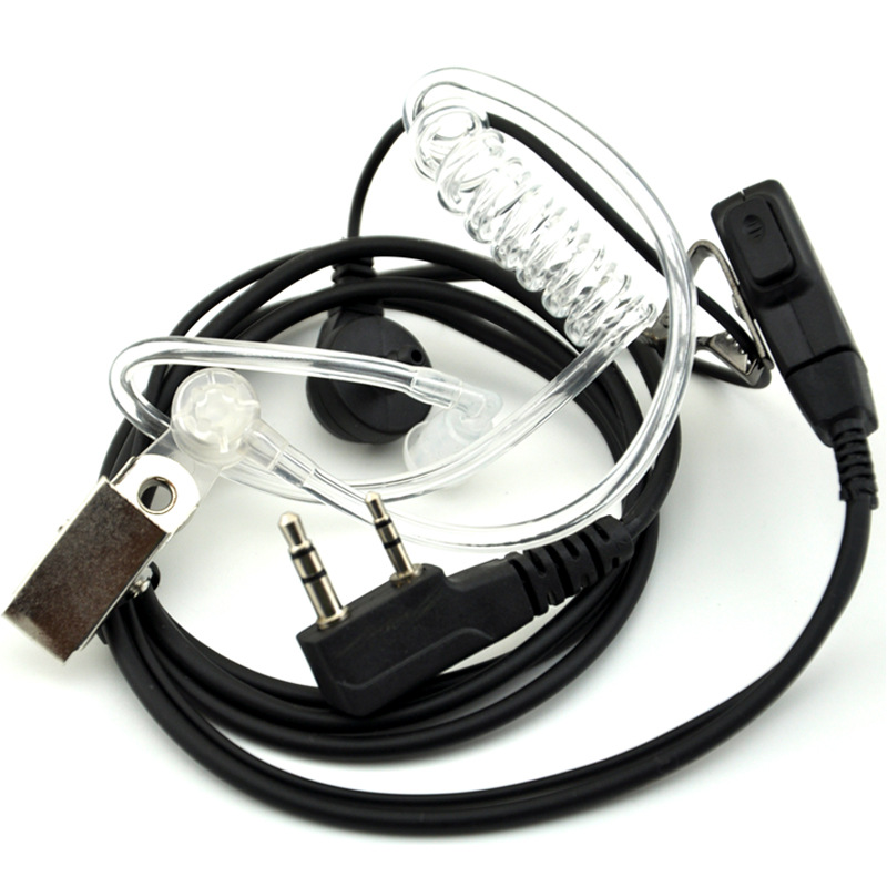 imágenes para Ppt tubo acústico aire 2 pin del auricular para baofeng walkie talkie accesorios headset micrófono para 888 s uv5r radio portátil uv82