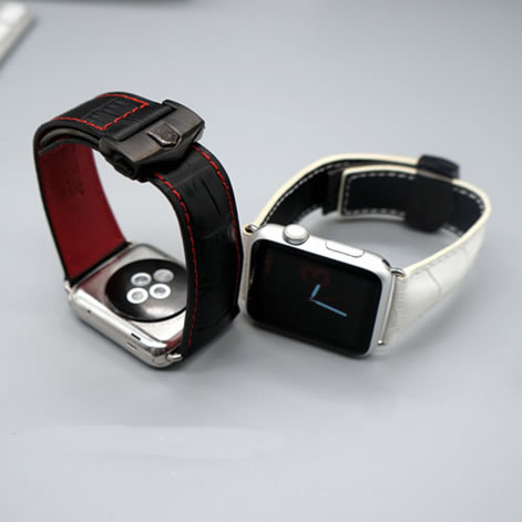 Folding buckle Genuine Leather Watch Band for Apple Watch Series 1/ 2 Wrist Strap  whatbands