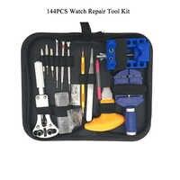 144 PCS Multi-function Professional And General Use Watch Repair Tool Kit, Case Opener Spring Bar Tool Set