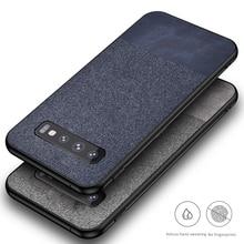 For Samsung Galaxy S10 Plus S10E Case Fabric Cloth Silicone TPU Bumper Hard PC Back Cover For S10 Plus Note 10 plus Note10+ for samsung galaxy s10 plus s10e case fabric cloth silicone tpu bumper hard pc back cover for s10 plus note 10 plus note10