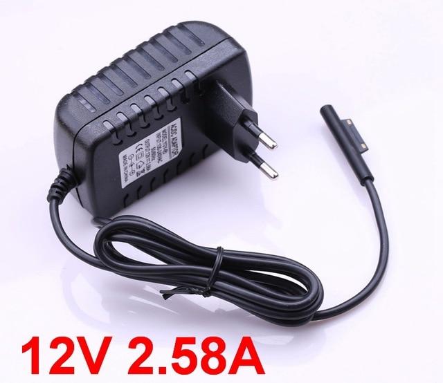 Adaptador de fonte de alimentação para laptop, carregador de parede para microsoft surface pro 3 pro3, 1 peça, 12v, 2.58a pro4 pro 4 (i5 i7)