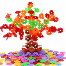 200 Pcs 3D Puzzle Jigsaw Plastic Snowflake Building Building Model Puzzle Educational Intelligence Toys For Kids WYQ