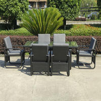 7 pcs Contemporary Dining Set , UV Resistant KD Rattan Furniture Sets transport by sea