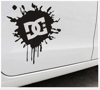 Aliauto Araba Aksesuarları Ken Blok DC Mürekkep Logo Araba Sticker Ve Çıkartması Toyota Ford Chevrolet Volkswagen Skoda Honda Hyundai