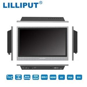 Image 5 - ליליפוט TK1330 NP/C 13.3 inch LED מציג דיור מתכת מסגרת פתוחה צג תעשייתי HDMI, VGA, DVI & A/V תשומות