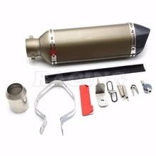 motorcycle exhaust pipe motorbike muffler parts For TTR CBR CBR125 CBR250 CB400 CB600 YZF FZ400 Z750