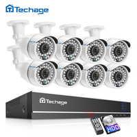 Techage 8CH 1080P HD DVR Kit système de sécurité CCTV 8 pièces 2MP IR extérieur étanche AHD caméra P2P vidéo Surveillance ensemble 2 to HDD