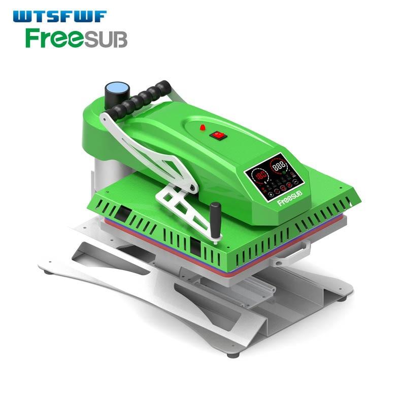 все цены на Wtsfwf 38*38CM Korean Shaking Head Heat Press Machine 2D Heat Press Printer For Tshirts Cases Pads онлайн