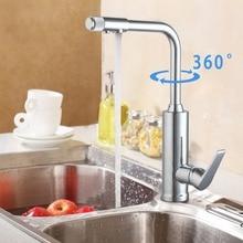 Torayvino модные Стиль Кухня кран Одной ручкой для Кухня раковина хромированная отделка очиститель воды 360 градусов Поворотный Смеситель