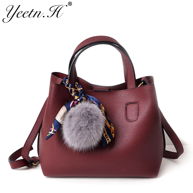 Yeetn.H women messenger bag pu leather handbag high quality composite bag female shoulder crossbody bag sac a main M2998 pu high quality leather women handbag famous brand shoulder bags for women messenger bag ladies crossbody female sac a main