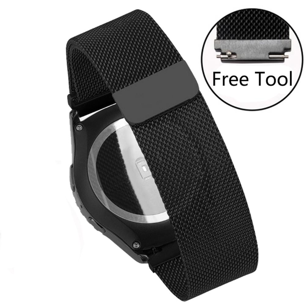 Prix pour Smart Bracelet Milanese Maille ceinture Qualité Inoxydable Montre En Acier bande 20mm22mm Pour Pebble Temps acier/Ronde Magique Boucle