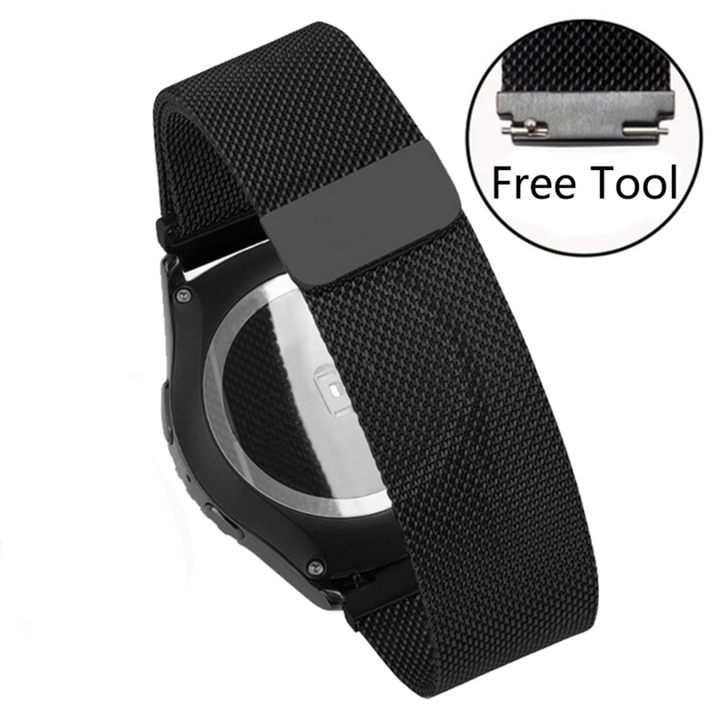 Smart Watchband Milanese Mesh belt Quality Stainless Steel Watch band 20mm22mm For Pebble Time steel/Round Magic Buckle
