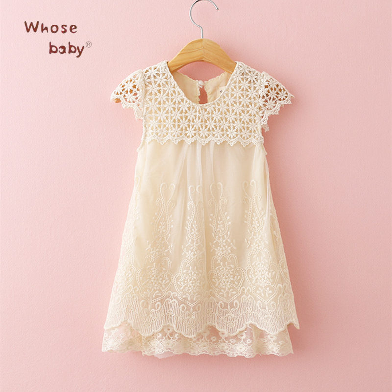 Baby Girls Dress Summer Lace Princess Kids Dresses For Girls Embroidered Solid Toddler Costumes For Party Wedding Child Clothing summer kids girls lace princess dress toddler baby girl dresses for party and wedding flower children clothing age 10 formal