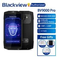 Blackview BV9000 Pro 4G, мобильный телефон с функцией 18:9 5,7 MTK6757 Octa Core Android 7,1 6 ГБ + 128 ГБ 13MP Водонепроницаемый IP68 NFC OTG Смартфон