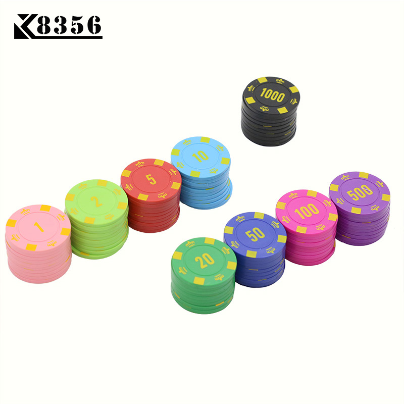 Entertainment Lower Price with K8356 25pcs/lot 4g Abs Crown Texas Holdem Chips Board Games Poker Chips Mahjong Machine Club Dedicated Currency Cards Custom