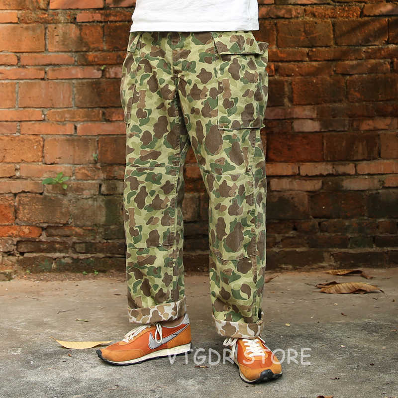 Bronson HBT Duck Hunter Camo Pants US Army Military Men Trousers Fatigue Uniform