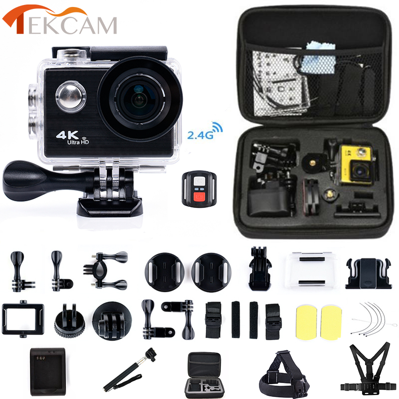 лучшая цена Tekcam F71/F71R Action camera 4K 25FPS remote Ultra HD WiFi 1080P camera deportive sports waterproof pro drone camera