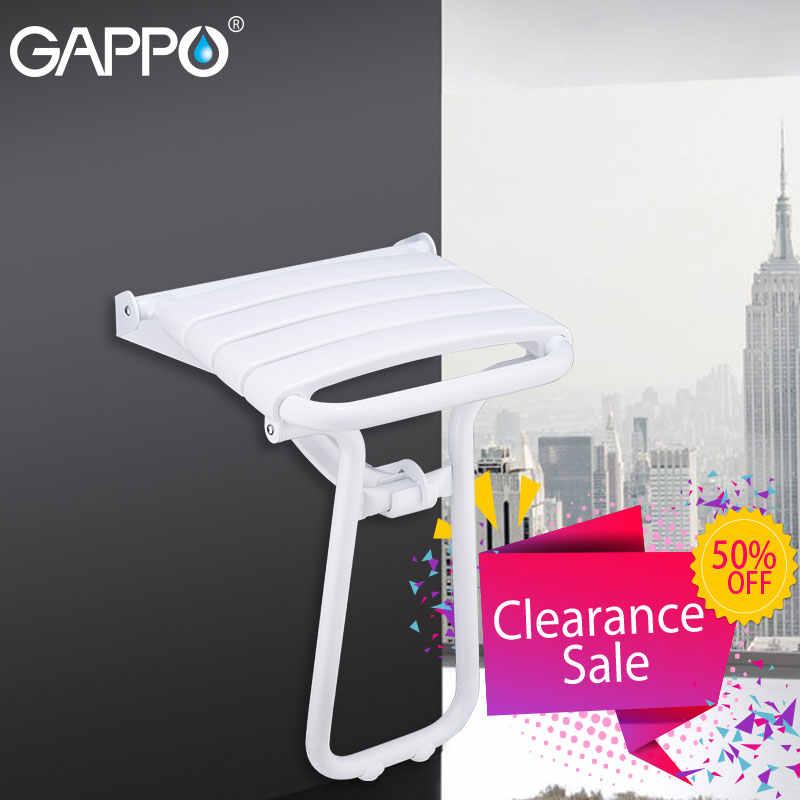 GAPPO ฝักบัวติดผนังที่นั่ง Bath bench อาบน้ำเก้าอี้พับก๊อกน้ำอาบน้ำ bath tap ผสมน้ำตก bath ชุด