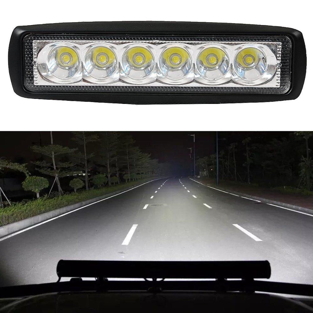 CYAN SOIL BAY New 18W Flood LED Light Work Bar Lamp Driving Fog Offroad SUV 4WD Car Boat Truck