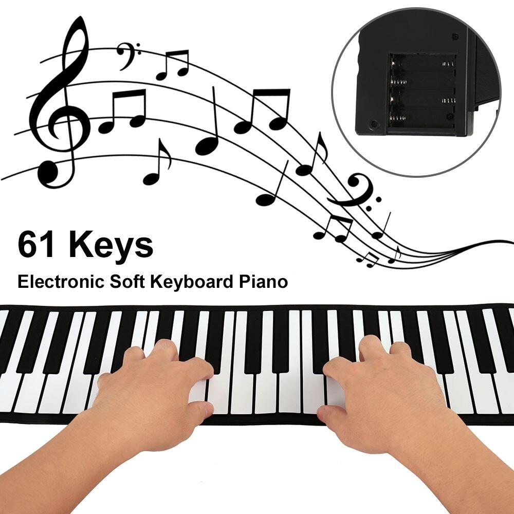 2017 New Portable 61 Keys Universal Flexible Roll Up Electronic Piano Soft Keyboard Piano