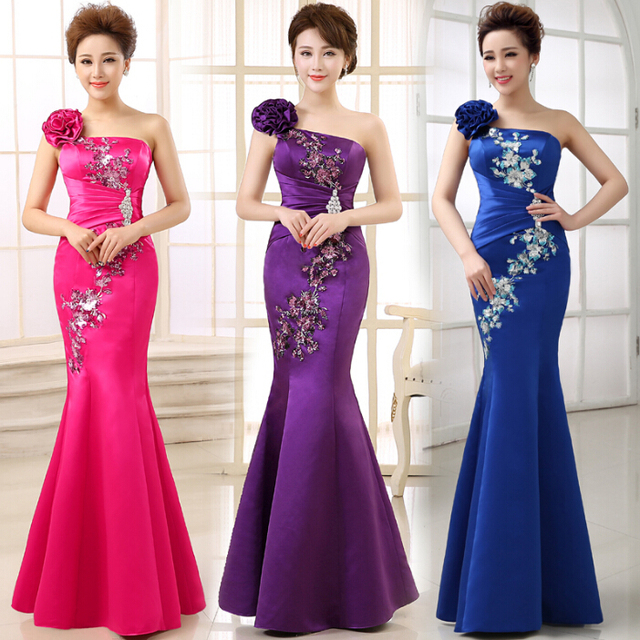 Royal Blue Bridesmaid Mermaid Chinese Las Dress Fuchsia Bridesmaids Dresses From China Wedding Red For