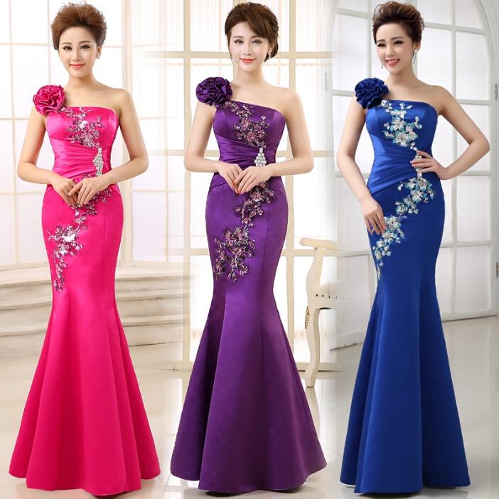 Fuschia and Royal Blue Bridesmaids Dresses – fashion dresses