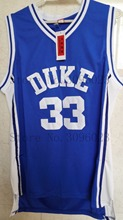 LANSHITINA Mens Cheap Throwback Basketball Jerseys #33 Grant Hill Jersey Duke University Stitched Basketball Shirts Blue White