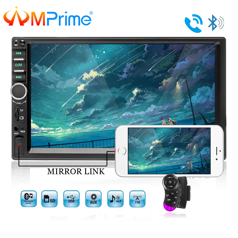 AMPrime 7018B Double 2 Din Car Video Player 7 Touch Screen Multimedia player MP5 Player USB
