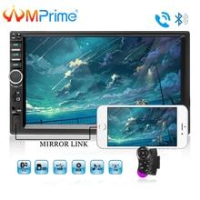 """AMPrime 7018B Doppio 2 Din Car Video Player 7 """"Touch Screen lettore Multimediale MP5 Lettore USB FM Bluetooth Con videocamera vista posteriore"""