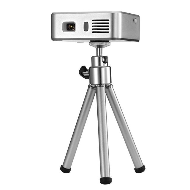 Práctico Mini Pico Proyector E05 Wifi Bluetooth de Cine En Casa Portátil de Bolsillo USB LED DLP Android 4.4 Incorporado 3000mA Banco de Potencia Caja de la TV