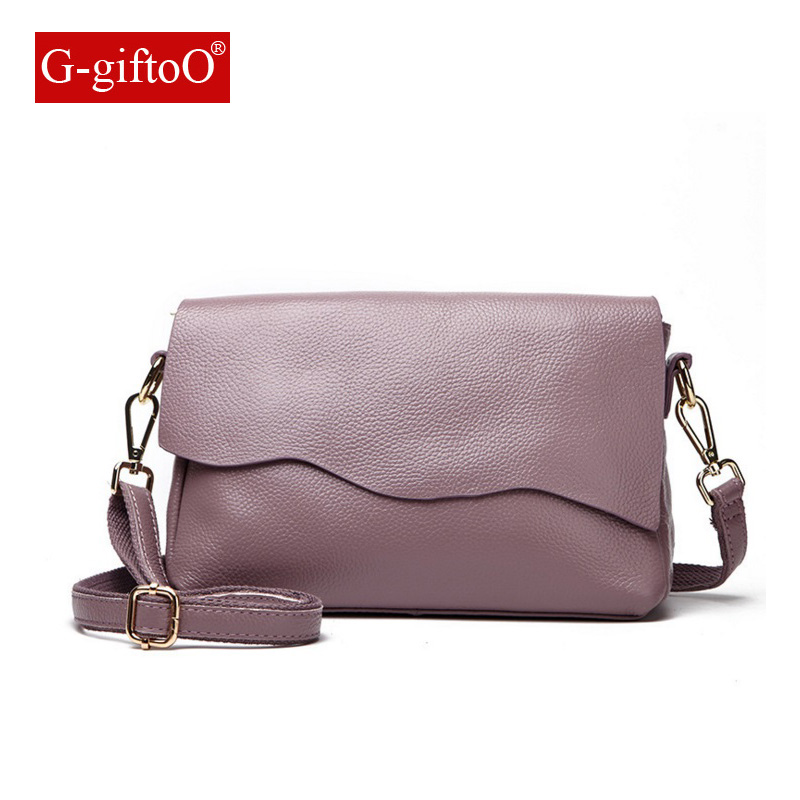 2018 Hot Sale Popular Fashion Brand Design Women Genuine Leather High Quality Real Cowskin Shoulder Bag Small Bag
