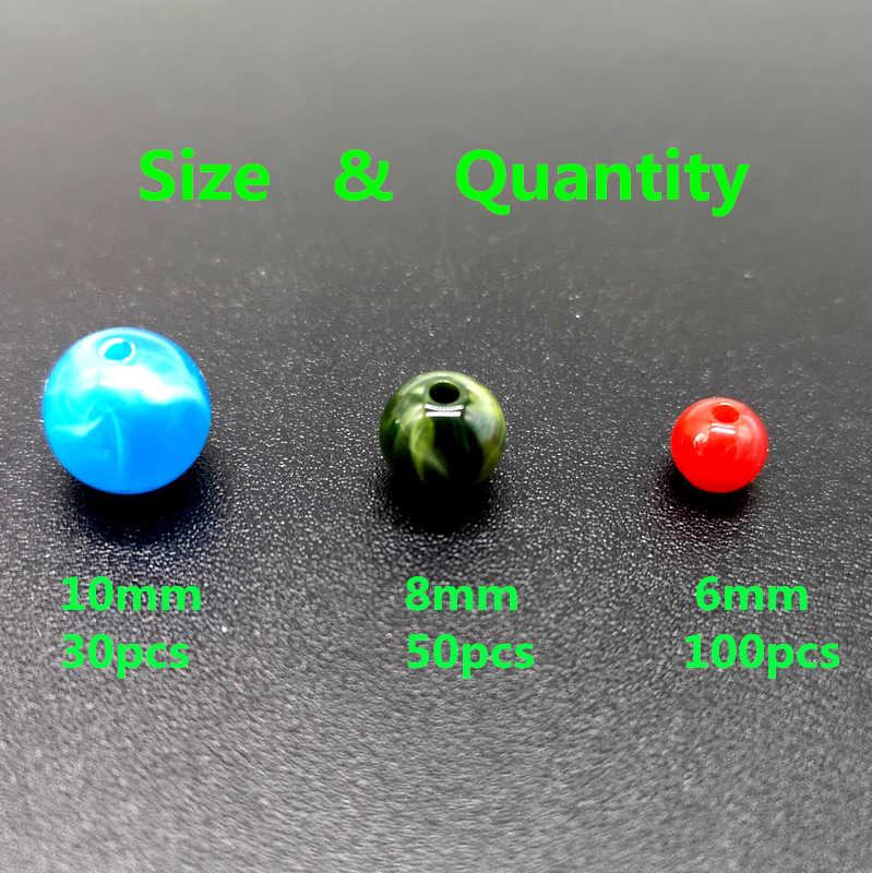 6 8 10mm Giả Đá Tự Nhiên Tròn Acrylic Hạt Mây Tác Dụng Hạt Trang Sức Makeing Vòng Tay Vòng Cổ TỰ LÀM Phụ Kiện