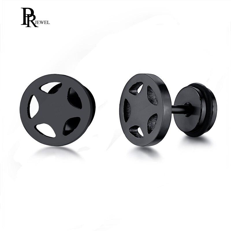 Cool Pentagram Stud Earrings for Men Stainless Steel Male Boy Small Earring Accessories 5 Colors
