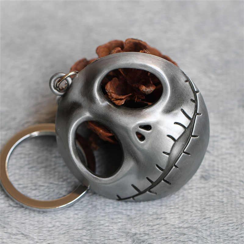 O Pesadelo Antes Do Natal Jack Skellington Keychain Anel Chave Cabide Mascarar A Cabeça Brilhava No Escuro Figura Chave Do Brinquedo cadeia