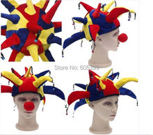 Party DIY Decoration Colorful Halloween Party Clown Hat With Small Bell Funny Costume Ball(China)