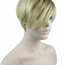 Сильный красота женщин короткий прямой парик Синтетический монолитный парики