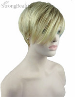 Strong Beauty Women Short Straight Wig Synthetic Full Capless Wigs
