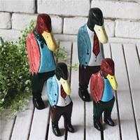 الأمريكي الأصلي الإبداعي البطة الناس دعوى ديكور مصغرة هدية عيد نحت الخشب الحرفية بطة الرجل الحلي ديكور كرافت