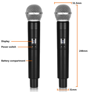 Image 4 - Hot Sale! UHF Wireless Microphone System Dynamic 2 Channel 2 Handheld Karaoke Cardioid Microphone Professional