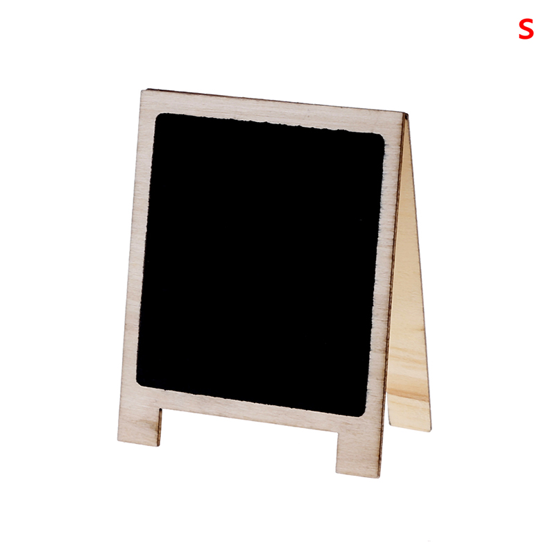 Desktop Writing Boards Wood Tabletop Chalkboard Double Sided Blackboard Message Board Stationery Office Supplies Size S