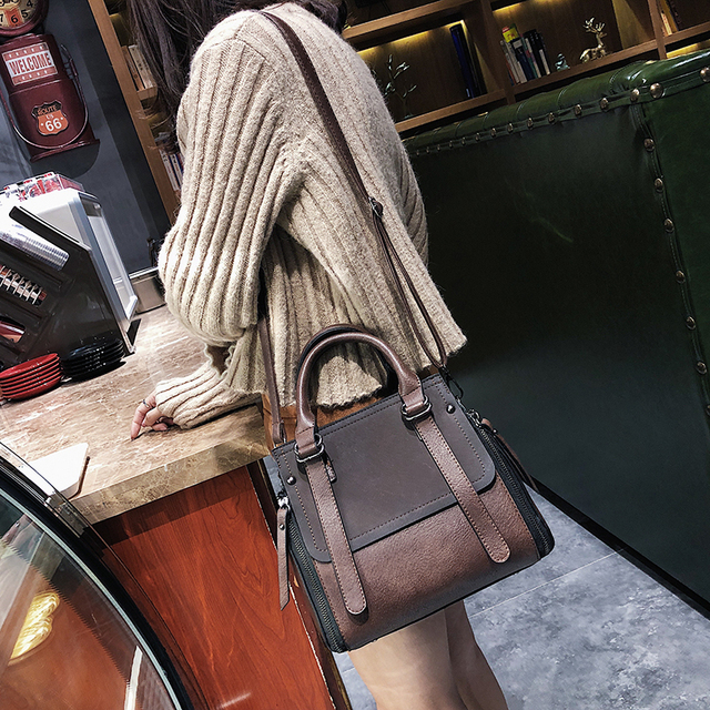 LEFTSIDE Vintage New Handbags For Women 2019 Female Brand Leather Handbag High Quality Small Bags Lady Shoulder Bags Casual 1