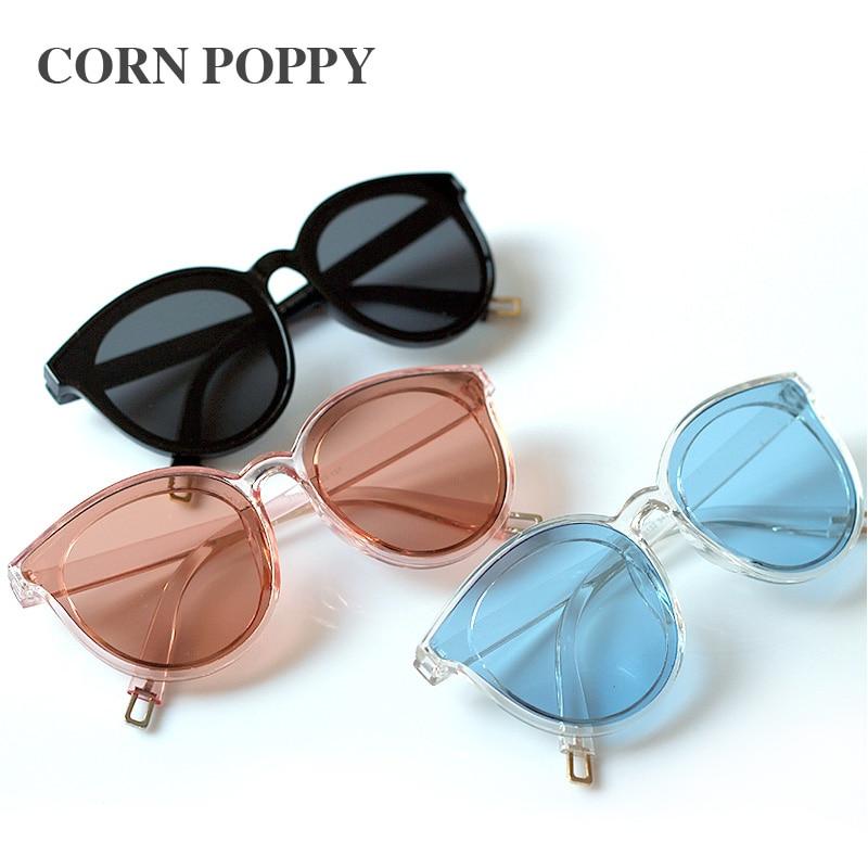 Kukorica mák Brand Designer Cat Eye napszemüveg nők Luxus műanyag zselés szemüveg nagy divat szemüveg Retro Oculos De Sol Gafas